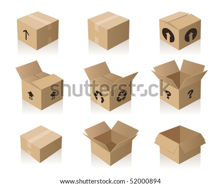 Brown paper boxes