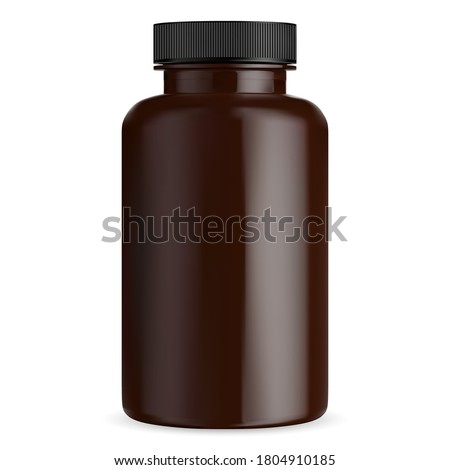brown pill bottle mockup