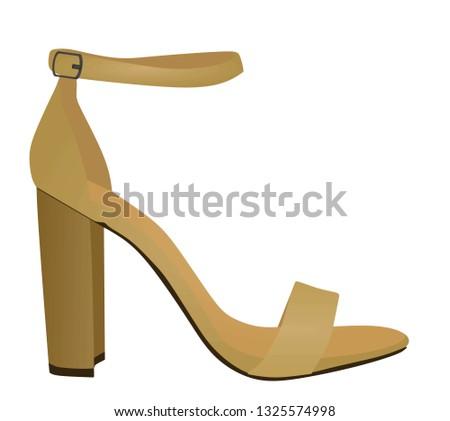 7b166e5c904d4 Brown sandal. vector illustration