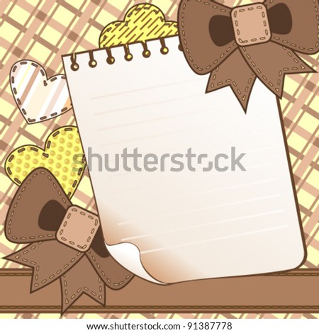 Brown scrapbook page