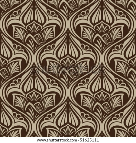 Brown seamless wallpaper pattern