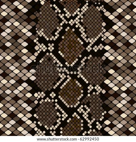 Brown snakeskin