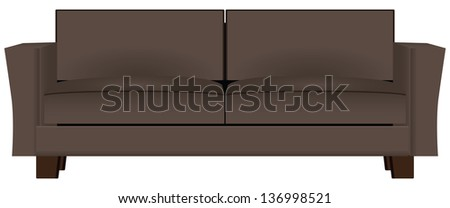 brown sofa for home or business