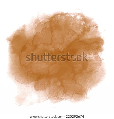 brown spot  watercolor abstract
