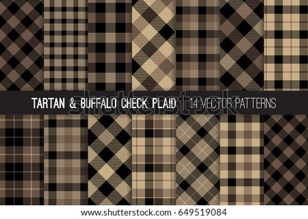 brown tartan and buffalo check