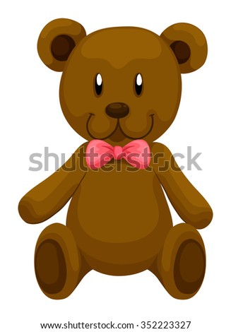 brown teddy bear with red