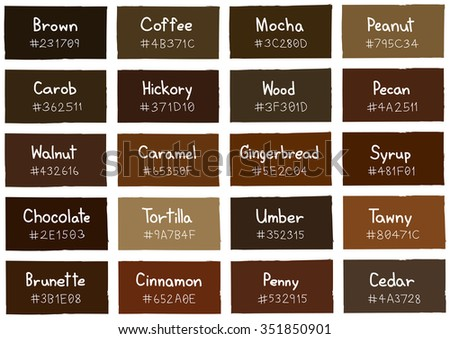 brown tone color shade