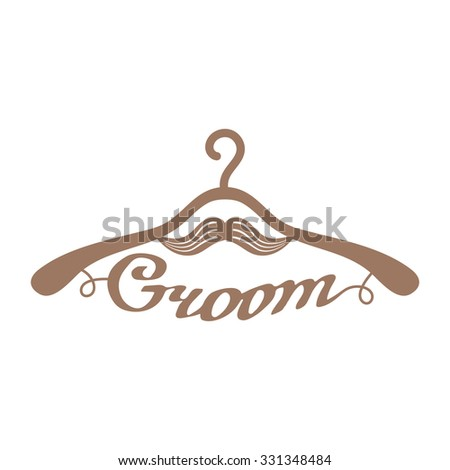 brown wedding hangers with