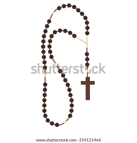 brown wooden catholic rosary