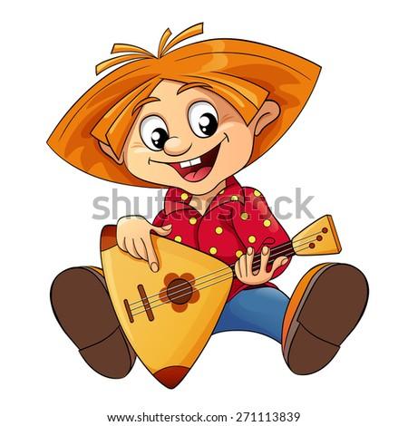 brownie playing a balalaika
