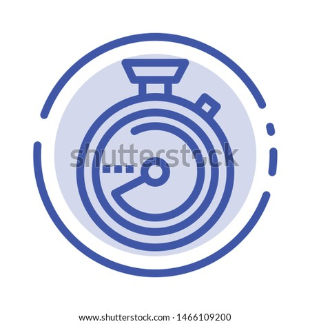 Browse, Compass, Navigation, Location Blue Dotted Line Line Icon. Vector Icon Template background