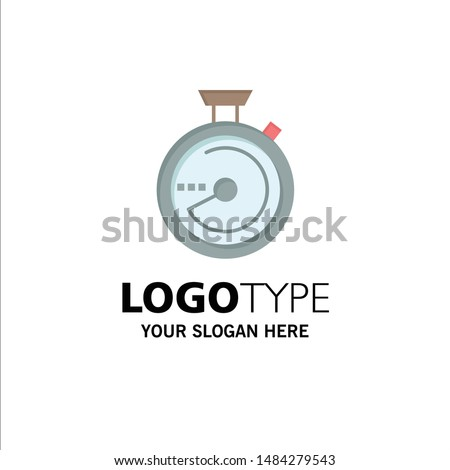 Browse, Compass, Navigation, Location Business Logo Template. Flat Color. Vector Icon Template background
