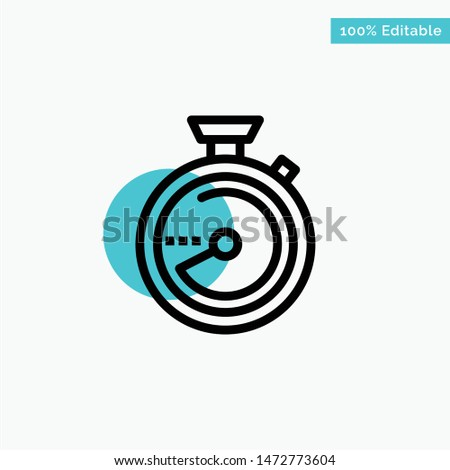 Browse, Compass, Navigation, Location turquoise highlight circle point Vector icon