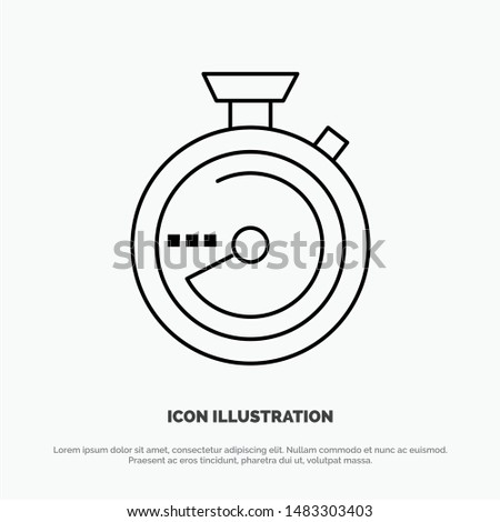 Browse, Compass, Navigation, Location Vector Line Icon