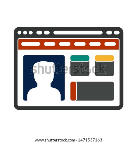 browser archive  icon. flat illustration of browse archive  - vector icon. browser archive  sign symbol