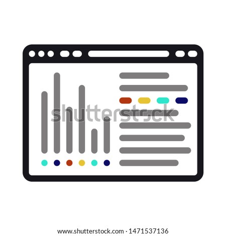 browser icon. flat illustration of browse - vector icon. browser sign symbol