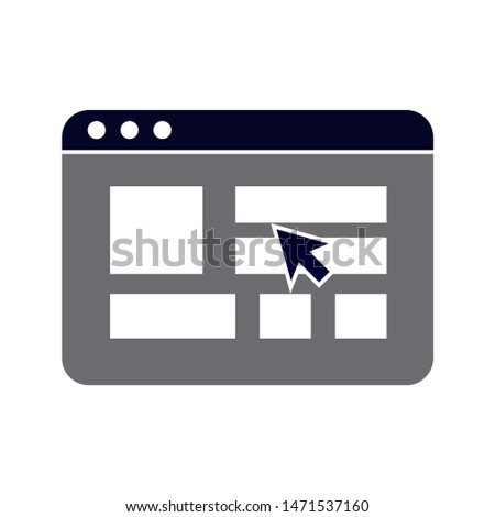 browser icon. flat illustration of browser - vector icon. browser sign symbol