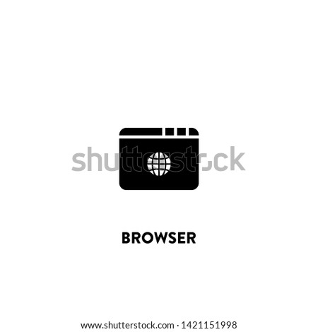 browser icon vector. browser sign on white background. browser icon for web and app