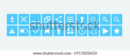 Browser interface icons. A set of icons for creating a browser interface. Vector illustration.