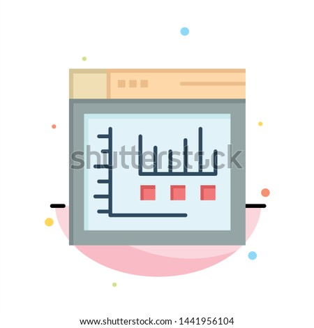 Browser, Internet, Web, Static Abstract Flat Color Icon Template