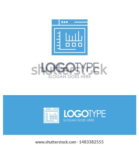 Browser, Internet, Web, Static Blue Logo vector
