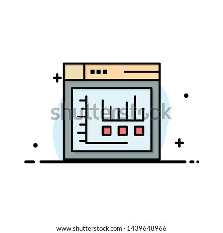 Browser, Internet, Web, Static  Business Flat Line Filled Icon Vector Banner Template