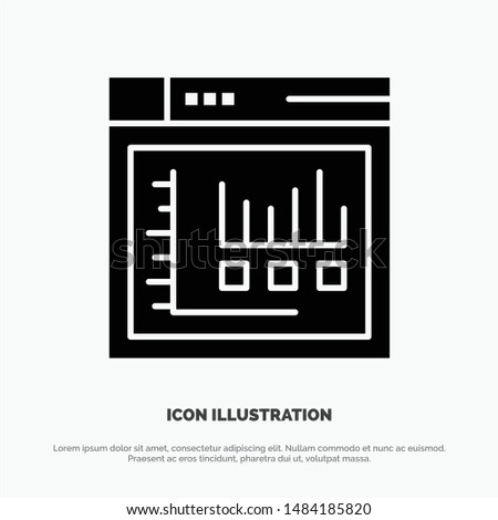 Browser, Internet, Web, Static Solid Black Glyph Icon. Vector Icon Template background
