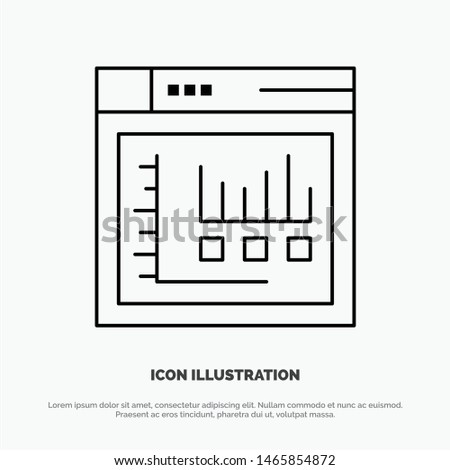 Browser, Internet, Web, Static Vector Line Icon. Vector Icon Template background