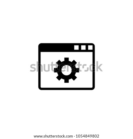 Browser Setup. Flat Vector Icon. Simple black symbol on white background