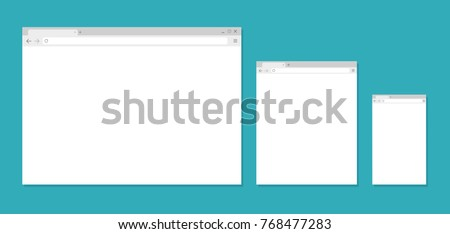 Browser window. Browser in flat style. Vector illustration
