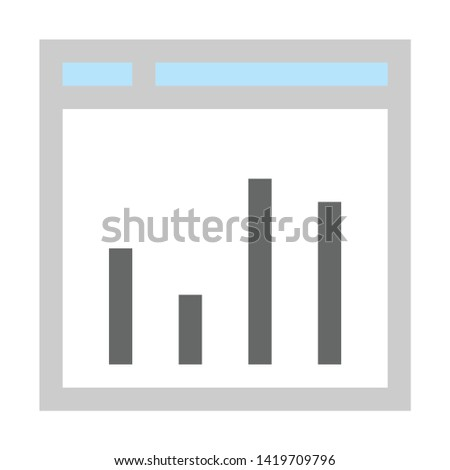 Browser window icon. flat illustration of Browser window vector icon for web