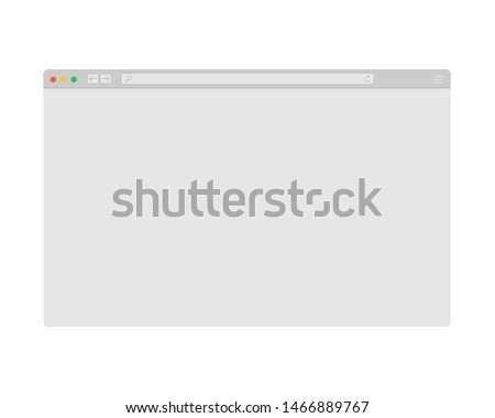 Browser window vector illustration. Browser or web browser in flat style. Window concept internet browser