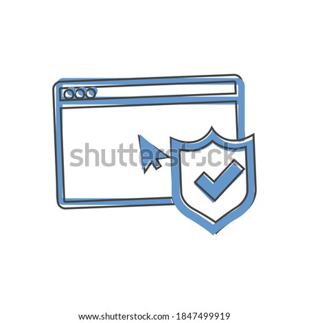 Browserl check board icon on white isolated background.