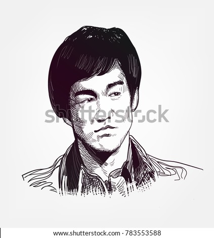 bruce lee vector illustration