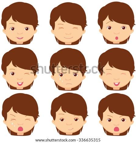 brunette girl emotions  joy
