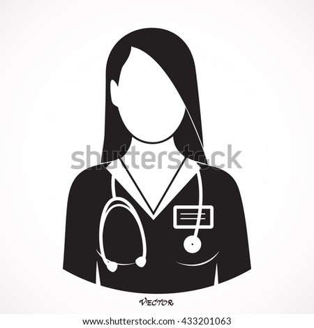 brunette in female medical