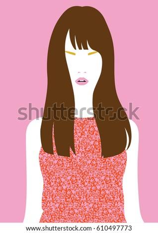 brunette long haired girl