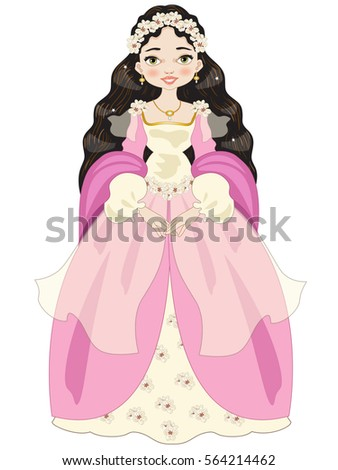 brunette princess with long
