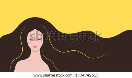 brunette with closed eyes on