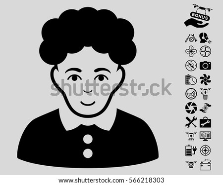brunette woman pictograph with
