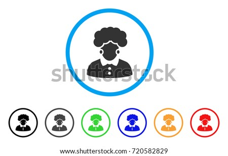 brunette woman rounded icon