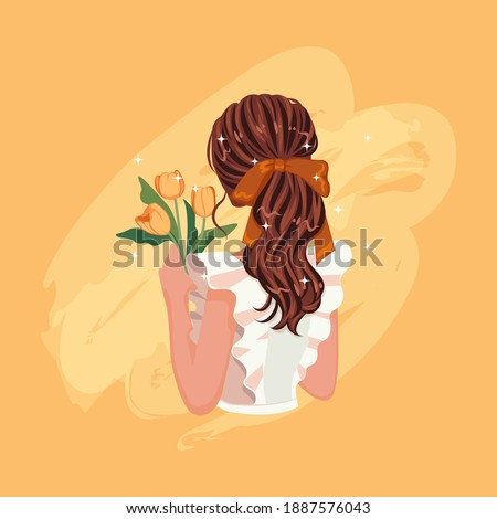 brunette woman's hair from back
