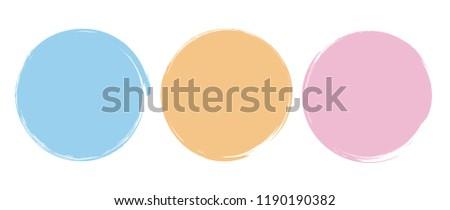 Brush Circle Logo Template Vector  #1190190382