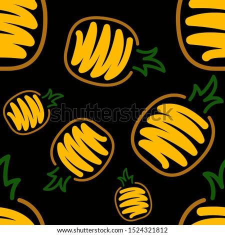 brush fruits pattern in