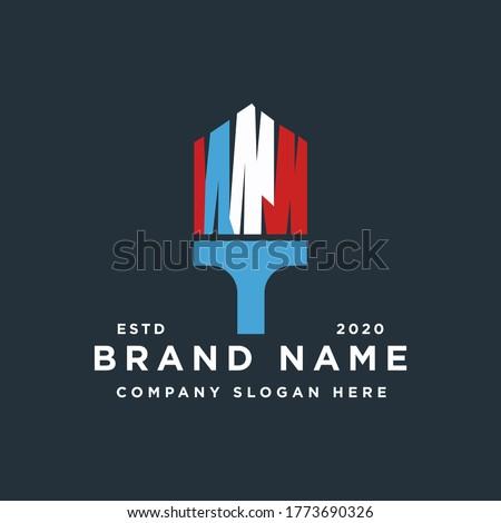 brush home house painting logo design inspiration
