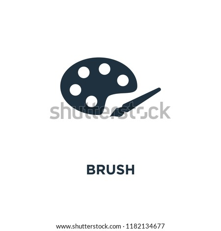 Brush icon. Black filled vector illustration. Brush symbol on white background. Can be used in web and mobile.
