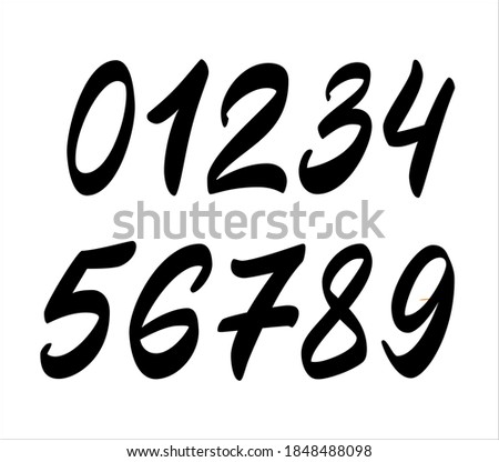 brush lettering vector for a