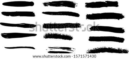 Brush paint, ink brush stroke, brush, line or texture. Artistic design element, box, Vector