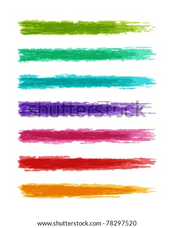 Brush paint splashes set vector illustration. Eps 10.
