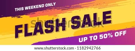 brush sale banner promotion ribbon banner, scroll, price tag, sticker, badge, poster. Vector illustration